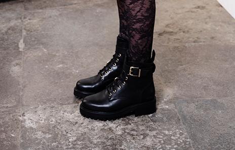 Känga Lack Look Dam Boots & Stövlar Kängor