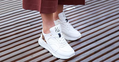 sneakers läder dam