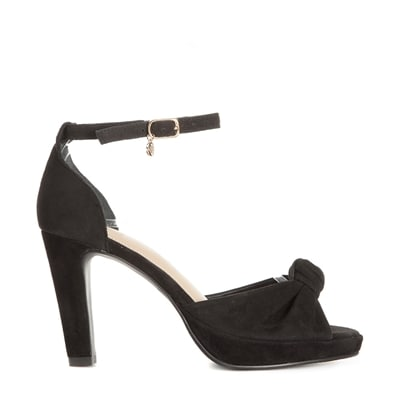 Dasia Orchid Black Svarta sandaletter med hälrem Damskor